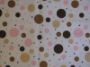 "Pink Tan Chocolate Dots - 8"" round"