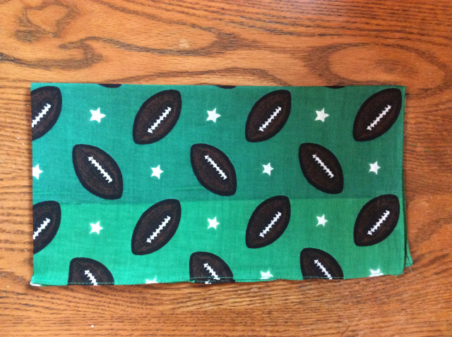 Bandana - Footballs on Large Green Stripe