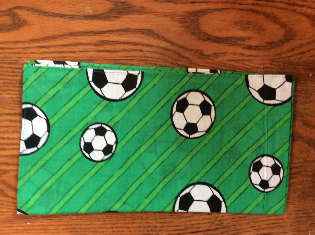 Bandana - Soccer Balls on Green