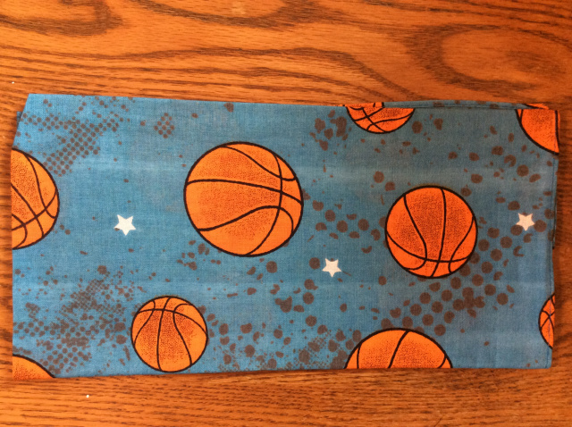Bandana - Basketballs on Blue