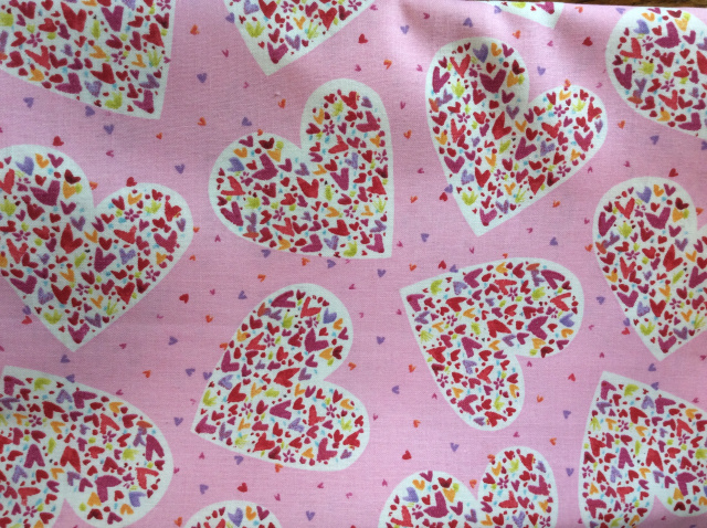 "Hearts within a Heart on Pink 2019 - 8"" round"
