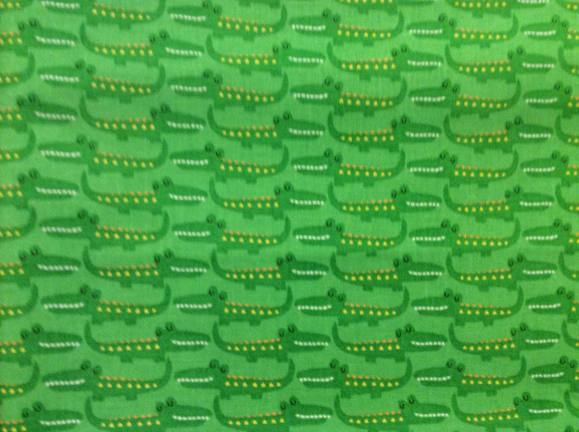 "Green Alligators - 8"" round"
