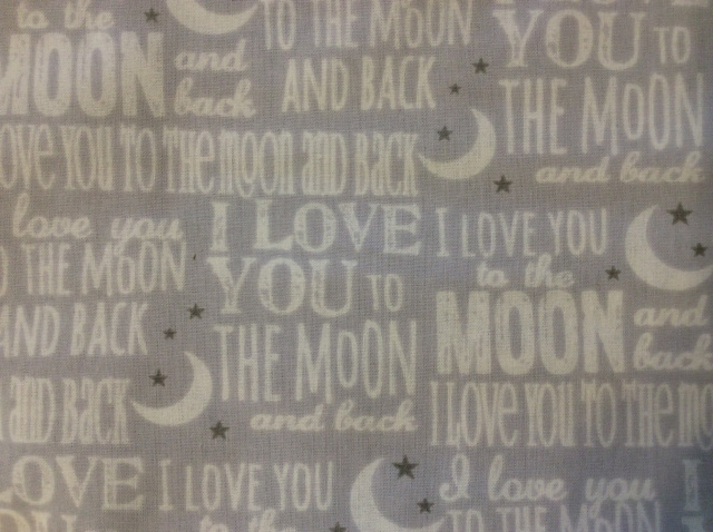 "I Love You to the Moon Grey - 8"" round"
