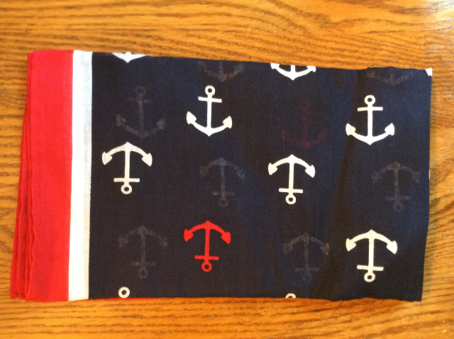 Bandana - Anchors on Navy