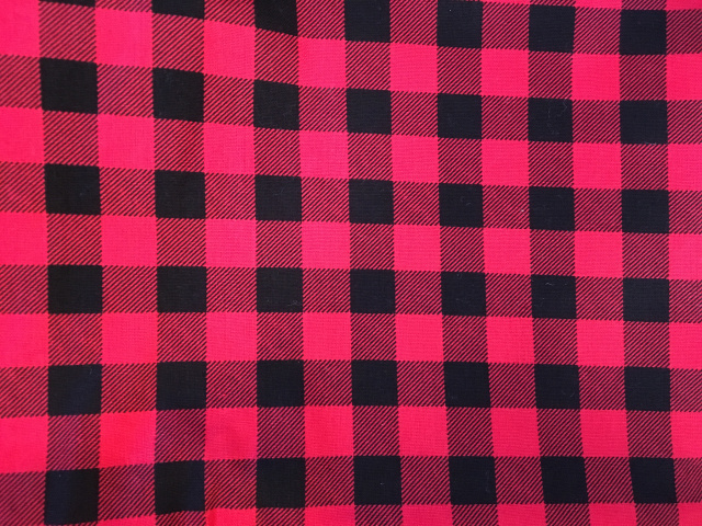 Bandana - Red/Black Buffalo Plaid