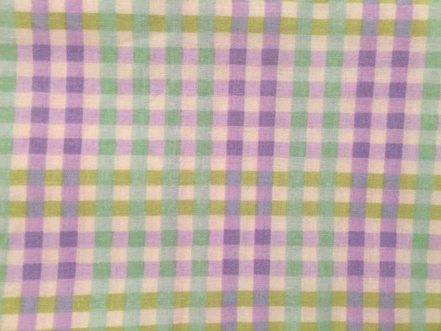 "Lavender/Mint/Lime Plaid - 8"" round"
