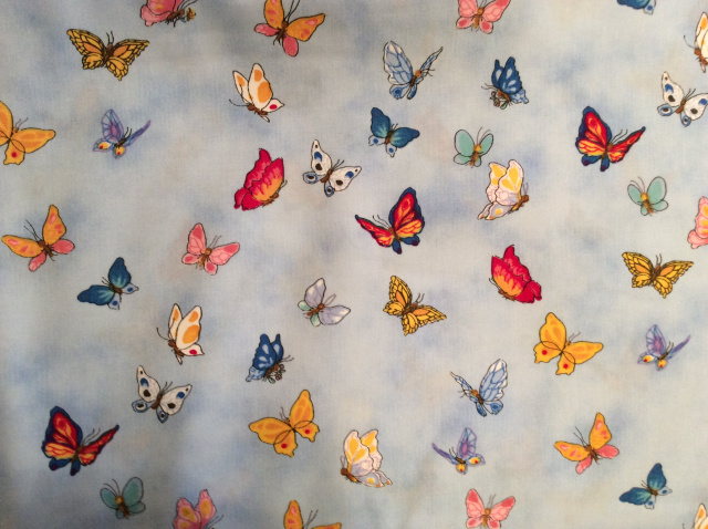 "Colorful Butterflies on Blue - 8"" round"