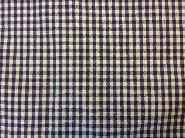 "Purple Gingham - 8"" round"