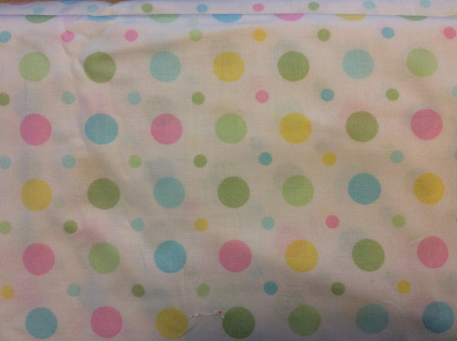 "Large/Small Pastel Dots - 8"" round"