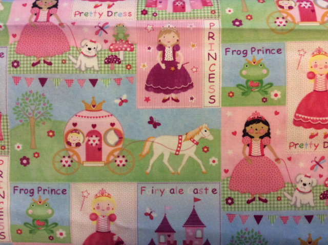 "Pink Princess Patchwork - 8"" round"