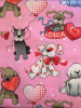 "Valentine Pups on Pink - 8"" round"